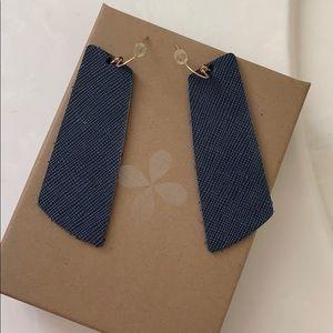 {Nickel & Suede} leather earrings